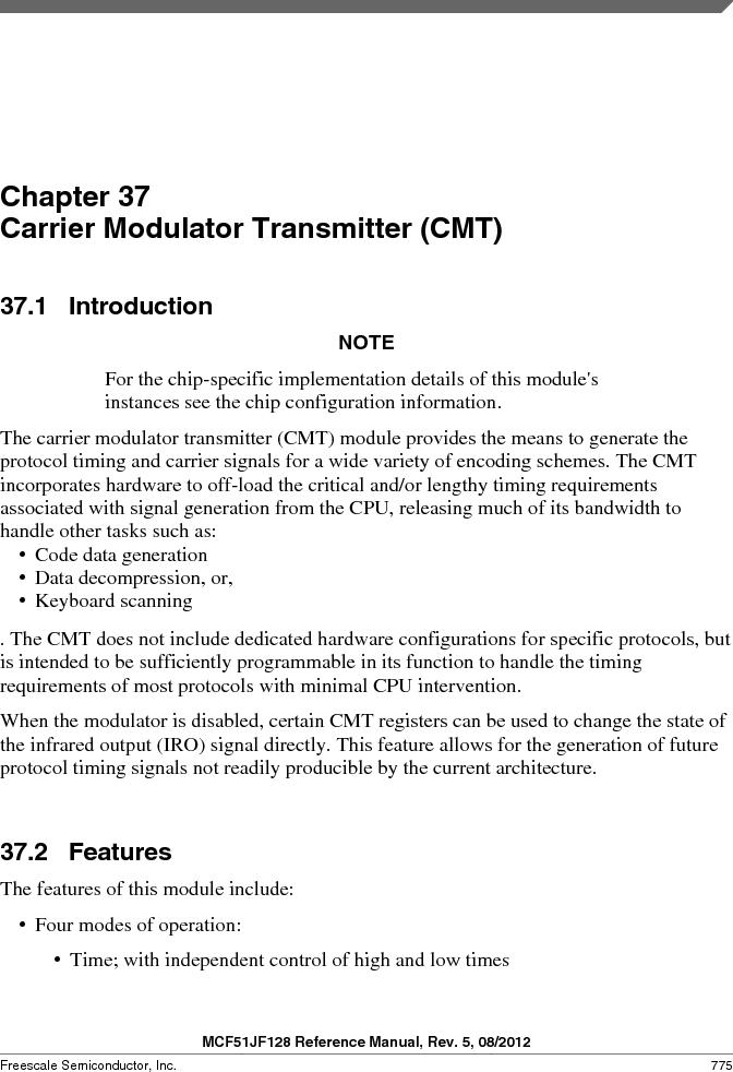 MCF51JF32VHS ,Freescale Semiconductor厂商,IC MCU 32BIT 32KB FLASH 44LGA, MCF51JF32VHS datasheet预览  第775页