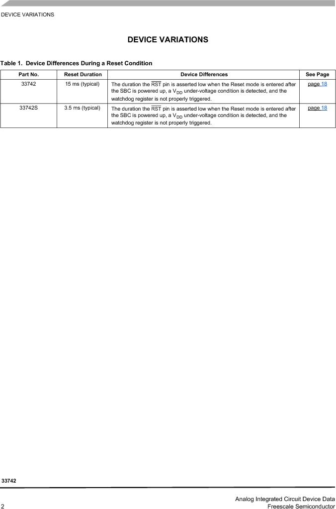 MC33742PEG ,Freescale Semiconductor厂商,CAN Interface IC SBC-E-HS-CAN, MC33742PEG datasheet预览  第2页