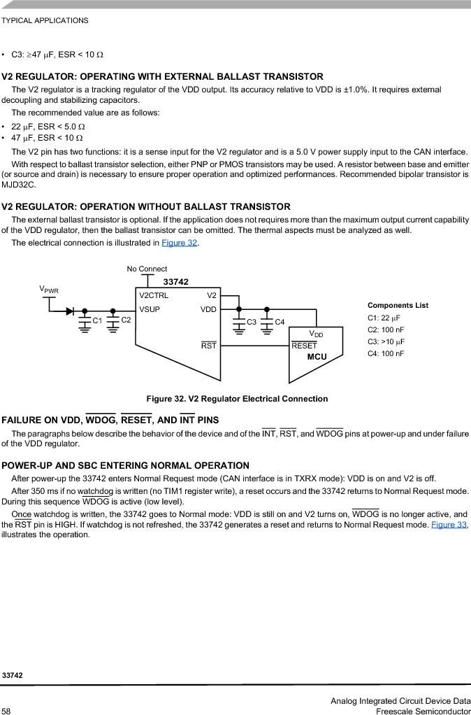 MC33742PEG ,Freescale Semiconductor厂商,CAN Interface IC SBC-E-HS-CAN, MC33742PEG datasheet预览  第58页