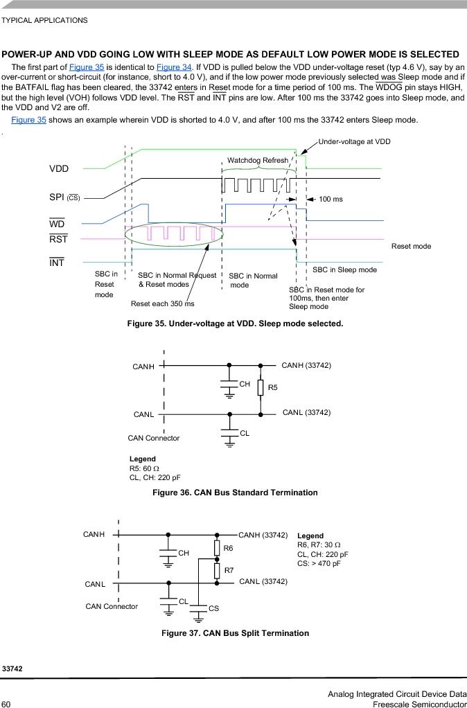 MC33742PEG ,Freescale Semiconductor厂商,CAN Interface IC SBC-E-HS-CAN, MC33742PEG datasheet预览  第60页