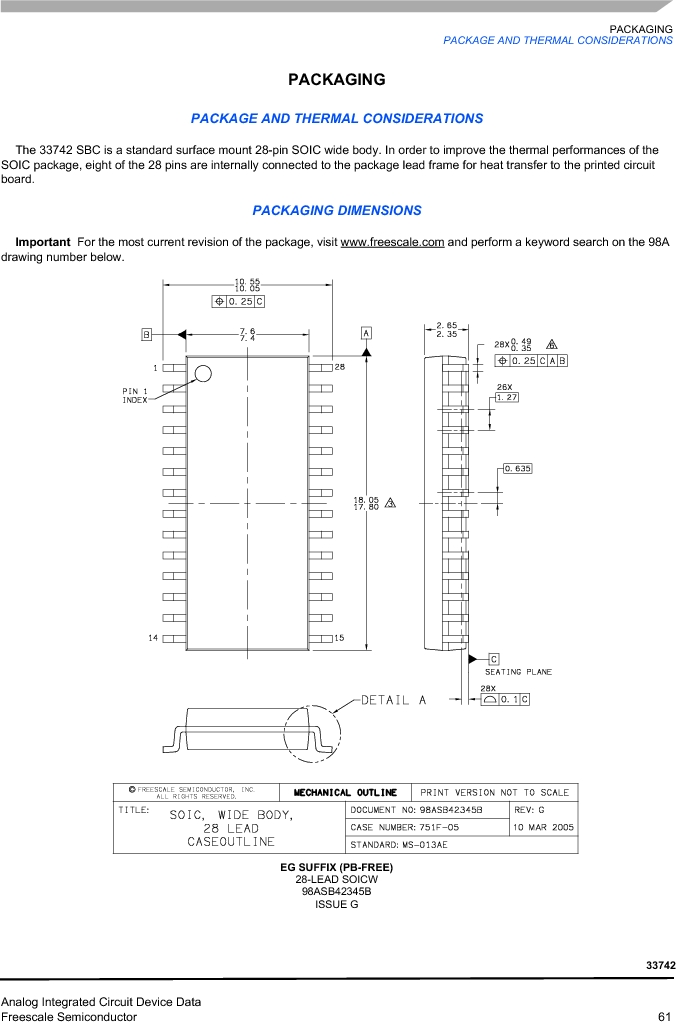 MC33742PEG ,Freescale Semiconductor厂商,CAN Interface IC SBC-E-HS-CAN, MC33742PEG datasheet预览  第61页