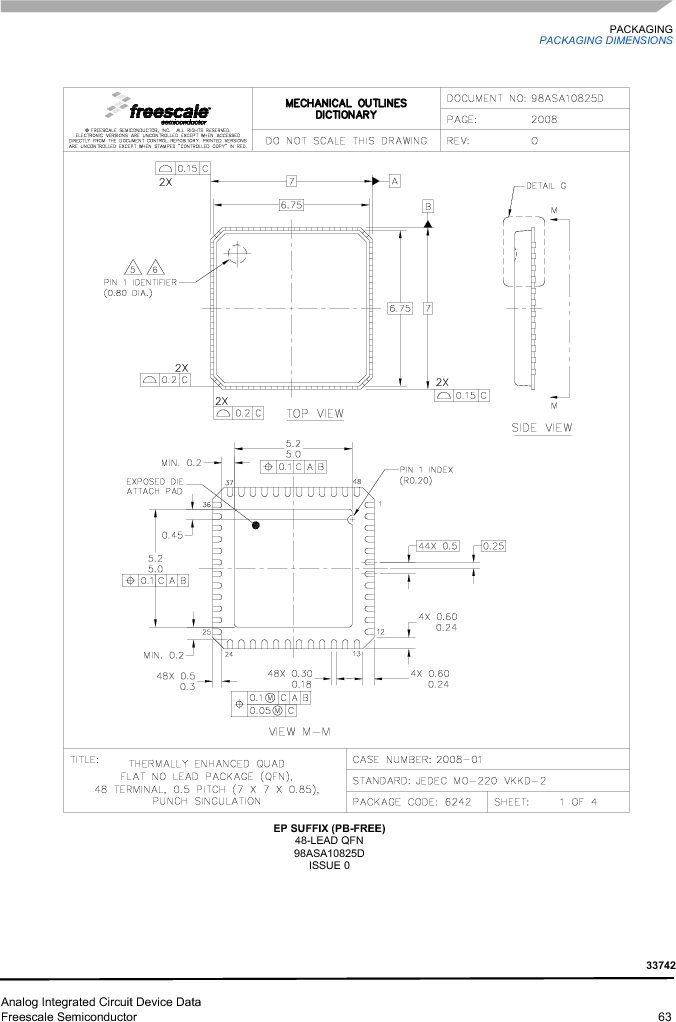 MC33742PEG ,Freescale Semiconductor厂商,CAN Interface IC SBC-E-HS-CAN, MC33742PEG datasheet预览  第63页