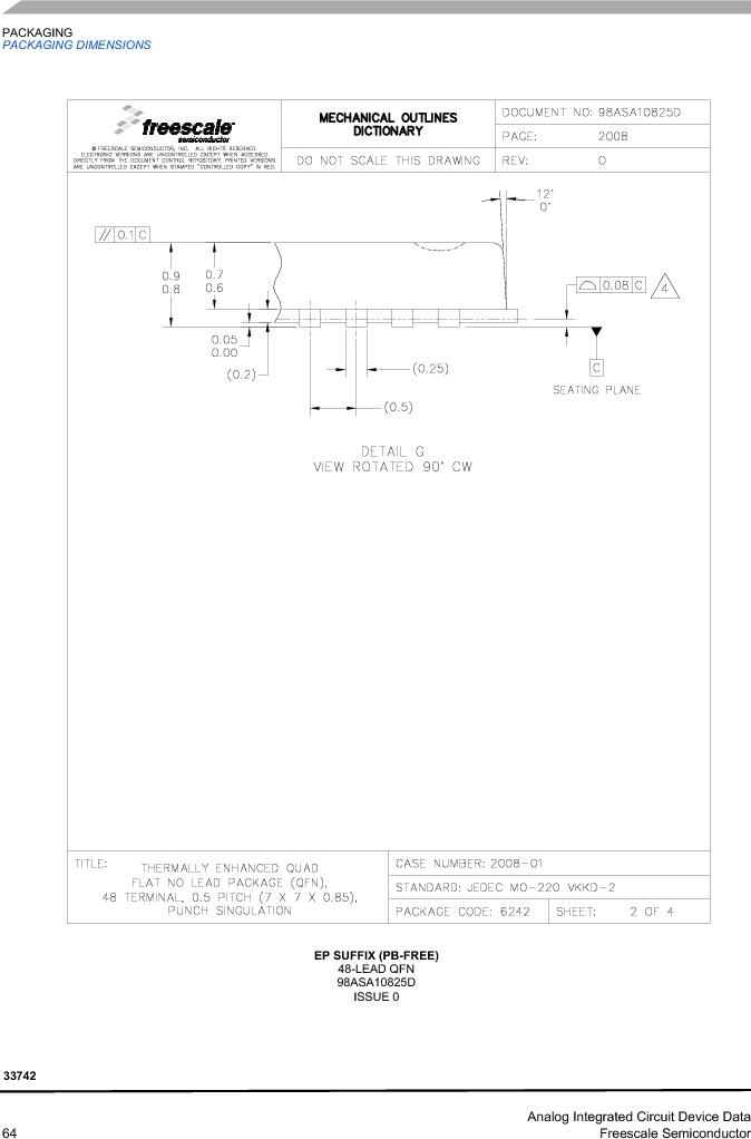 MC33742PEG ,Freescale Semiconductor厂商,CAN Interface IC SBC-E-HS-CAN, MC33742PEG datasheet预览  第64页