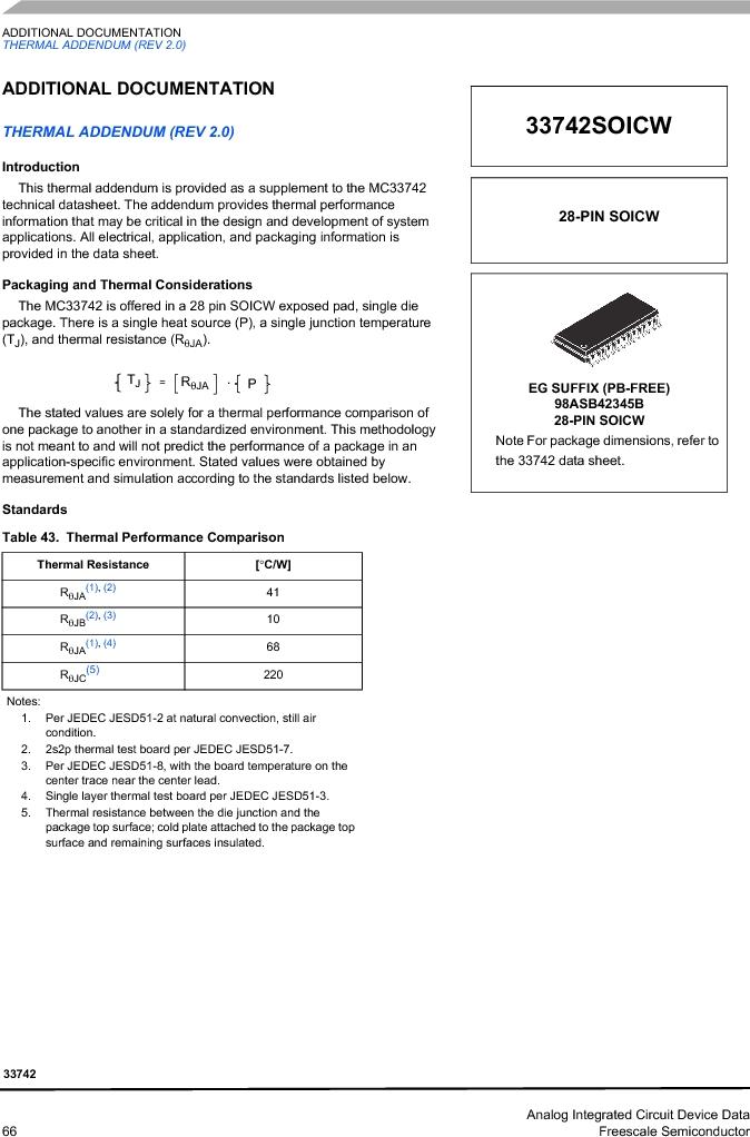 MC33742PEG ,Freescale Semiconductor厂商,CAN Interface IC SBC-E-HS-CAN, MC33742PEG datasheet预览  第66页
