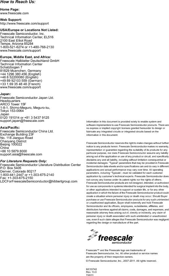 MC33742PEG ,Freescale Semiconductor厂商,CAN Interface IC SBC-E-HS-CAN, MC33742PEG datasheet预览  第71页