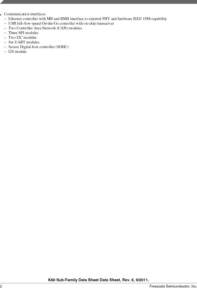 MK60DN512ZVMD10 ,Freescale Semiconductor厂商,IC ARM CORTEX MCU 512KB 144BGA, MK60DN512ZVMD10 datasheet预览  第2页