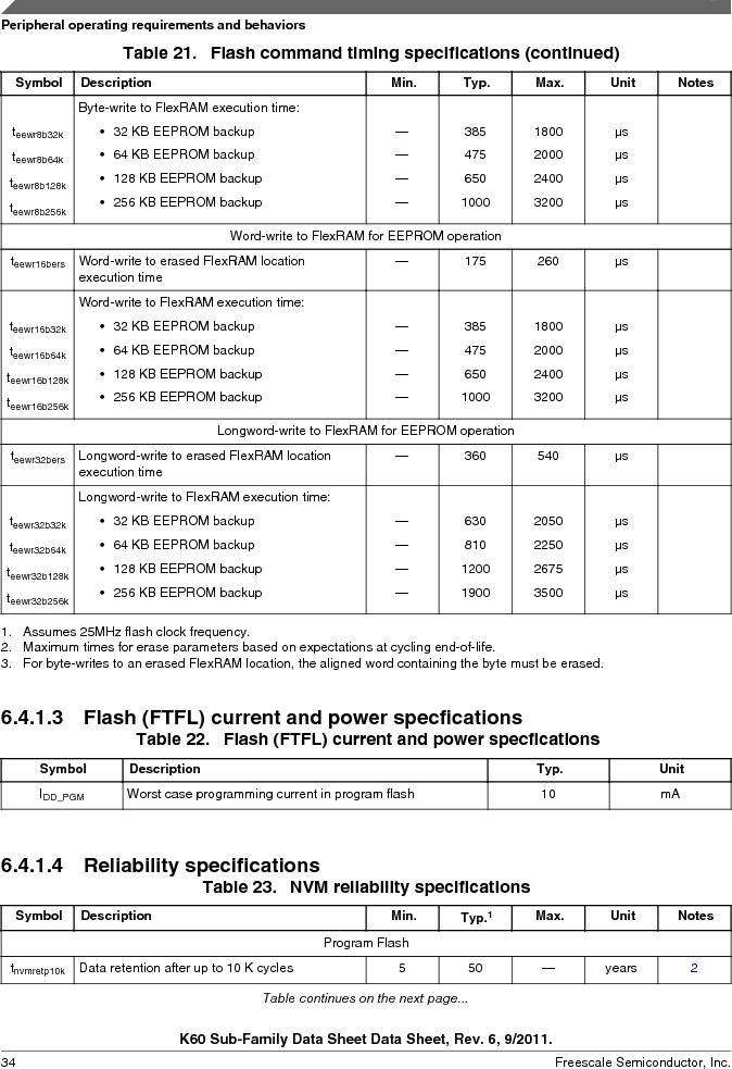 MK60DN512ZVMD10 ,Freescale Semiconductor厂商,IC ARM CORTEX MCU 512KB 144BGA, MK60DN512ZVMD10 datasheet预览  第34页