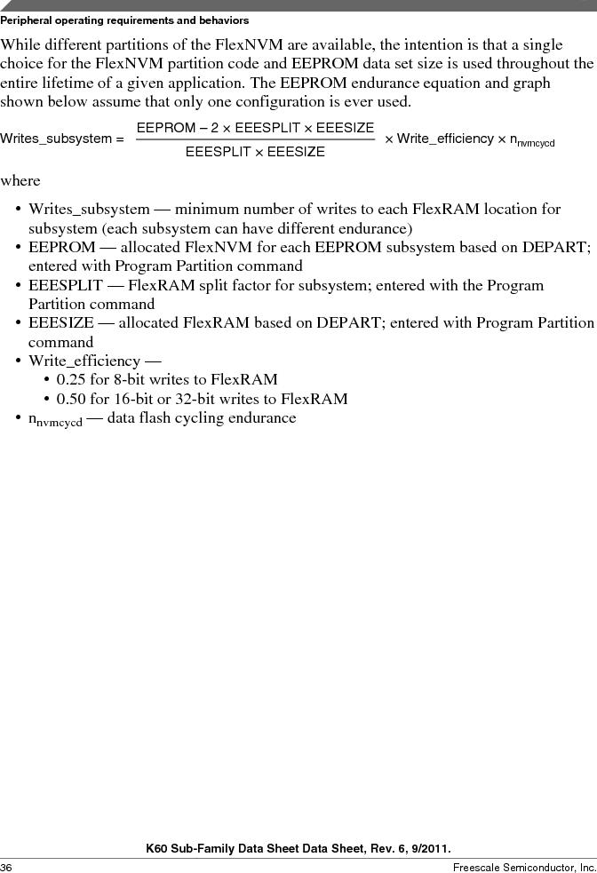 MK60DN512ZVMD10 ,Freescale Semiconductor厂商,IC ARM CORTEX MCU 512KB 144BGA, MK60DN512ZVMD10 datasheet预览  第36页