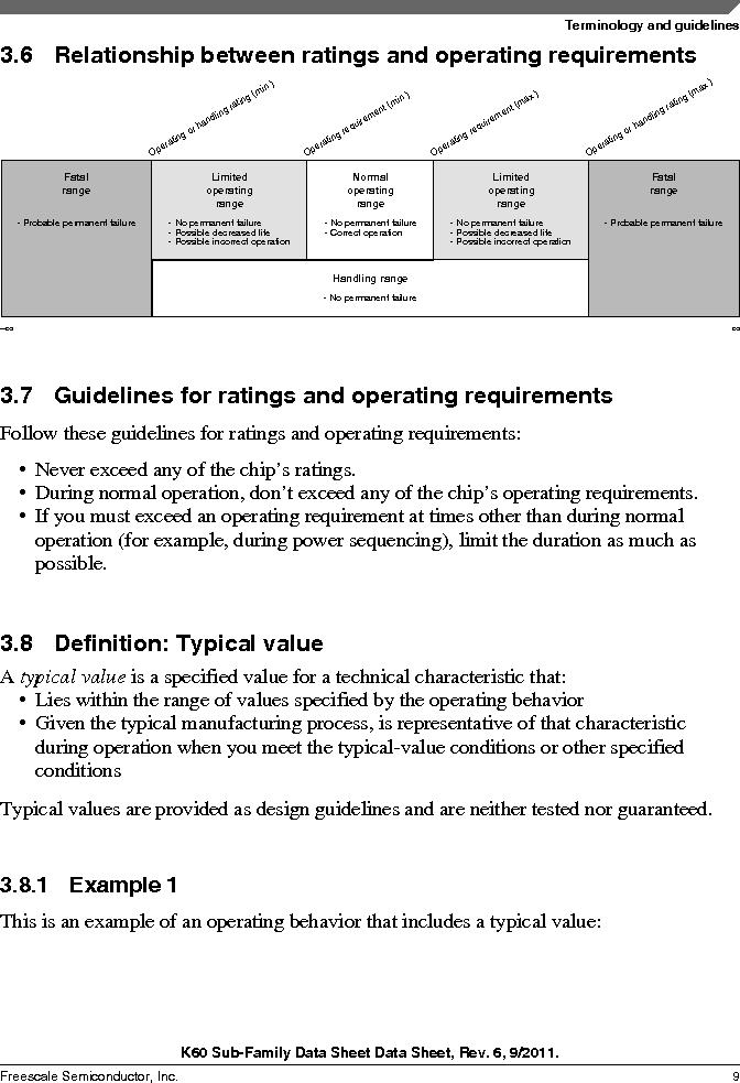MK60DN512ZVMD10 ,Freescale Semiconductor厂商,IC ARM CORTEX MCU 512KB 144BGA, MK60DN512ZVMD10 datasheet预览  第9页