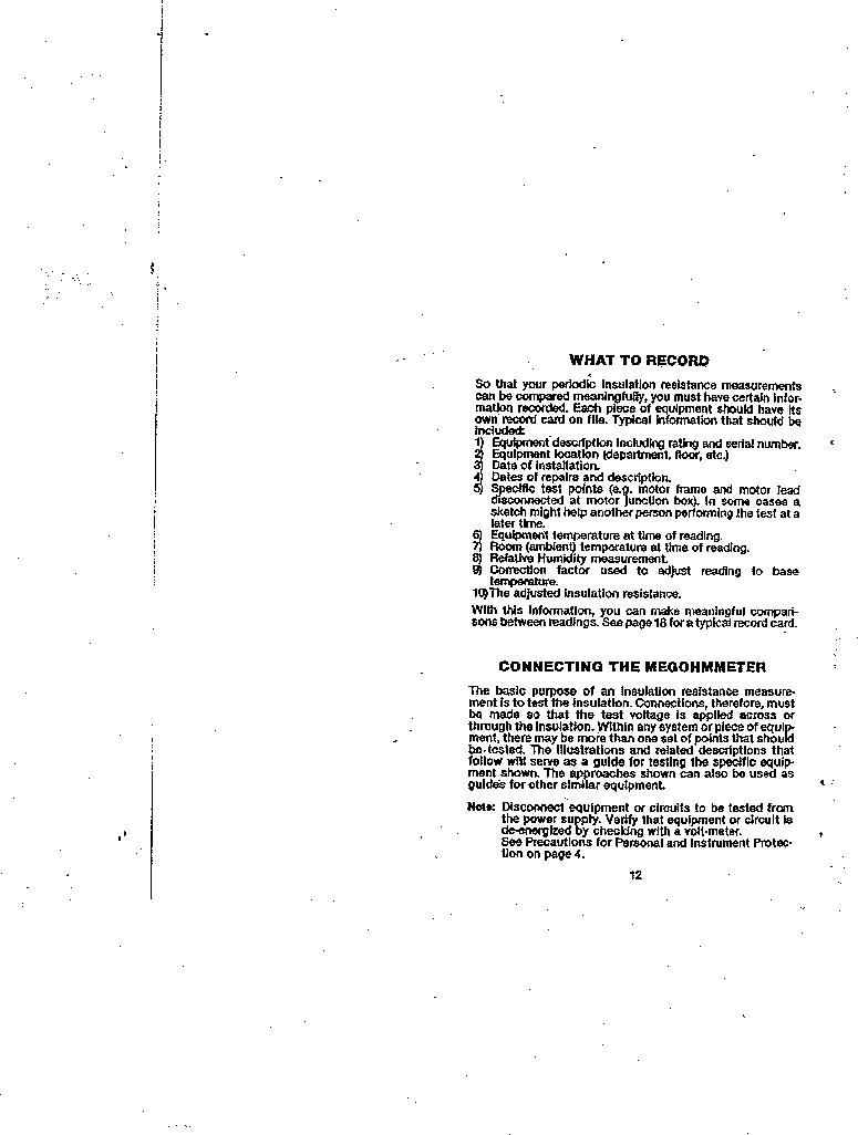AMC-3 ,Amprobe厂商,MEGOHMMETER HND CRANKD 1000V, AMC-3 datasheet预览  第12页