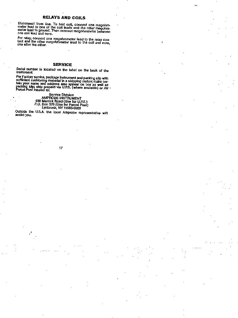 AMC-3 ,Amprobe厂商,MEGOHMMETER HND CRANKD 1000V, AMC-3 datasheet预览  第17页
