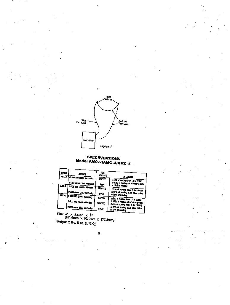 AMC-3 ,Amprobe厂商,MEGOHMMETER HND CRANKD 1000V, AMC-3 datasheet预览  第5页