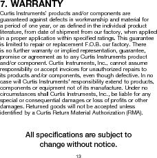 906T24BNMAO ,Curtis Instruments Inc厂商,METER BATTERY VOLTAGE 24VDC OEM, 906T24BNMAO datasheet预览  第16页