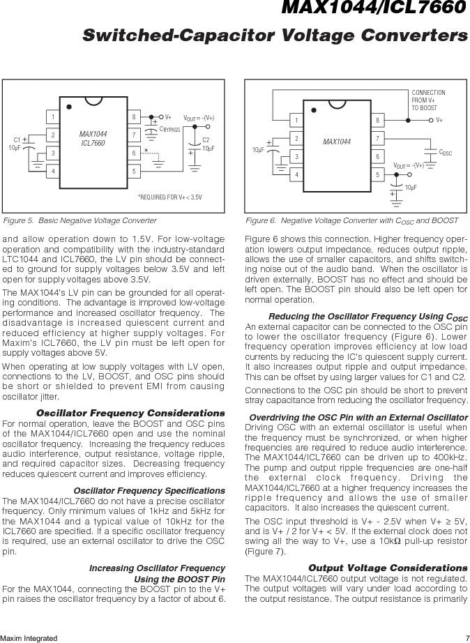 ICL7660AMTV/883B ,Maxim Integrated厂商,Charge Pumps, ICL7660AMTV/883B datasheet预览  第7页