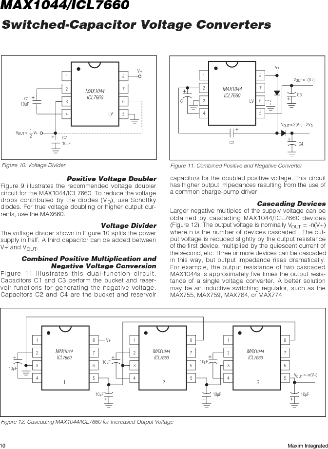 ICL7660AMTV/883B ,Maxim Integrated厂商,Charge Pumps, ICL7660AMTV/883B datasheet预览  第10页