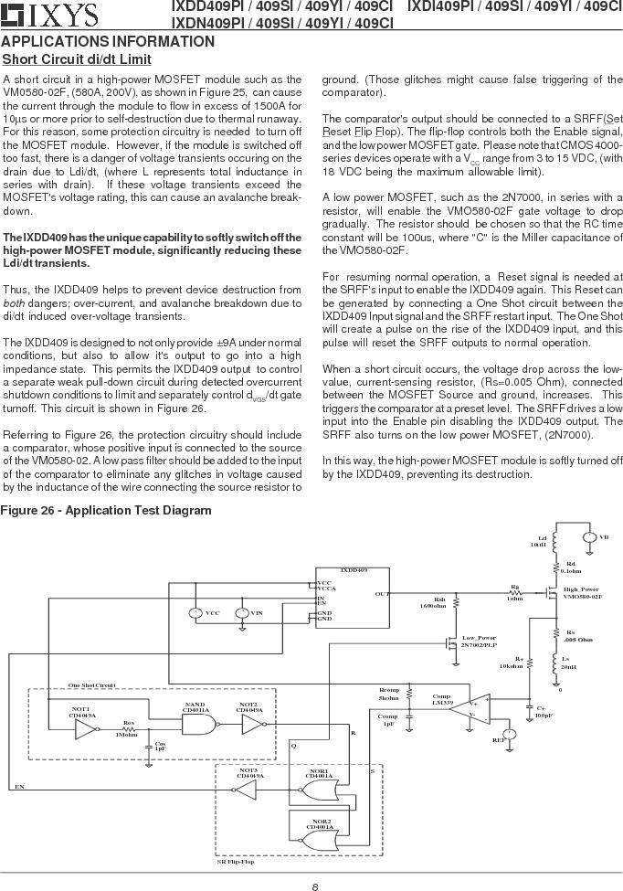 IXDD409CI ,IXYS厂商,IC MOSFET DRVR 9A LOSIDE TO220-5, IXDD409CI datasheet预览  第8页