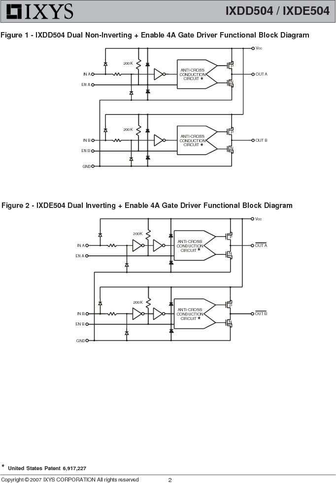IXDE504SIAT/R ,IXYS厂商,IC GATE DRIVER 4A 8-SOIC, IXDE504SIAT/R datasheet预览  第2页