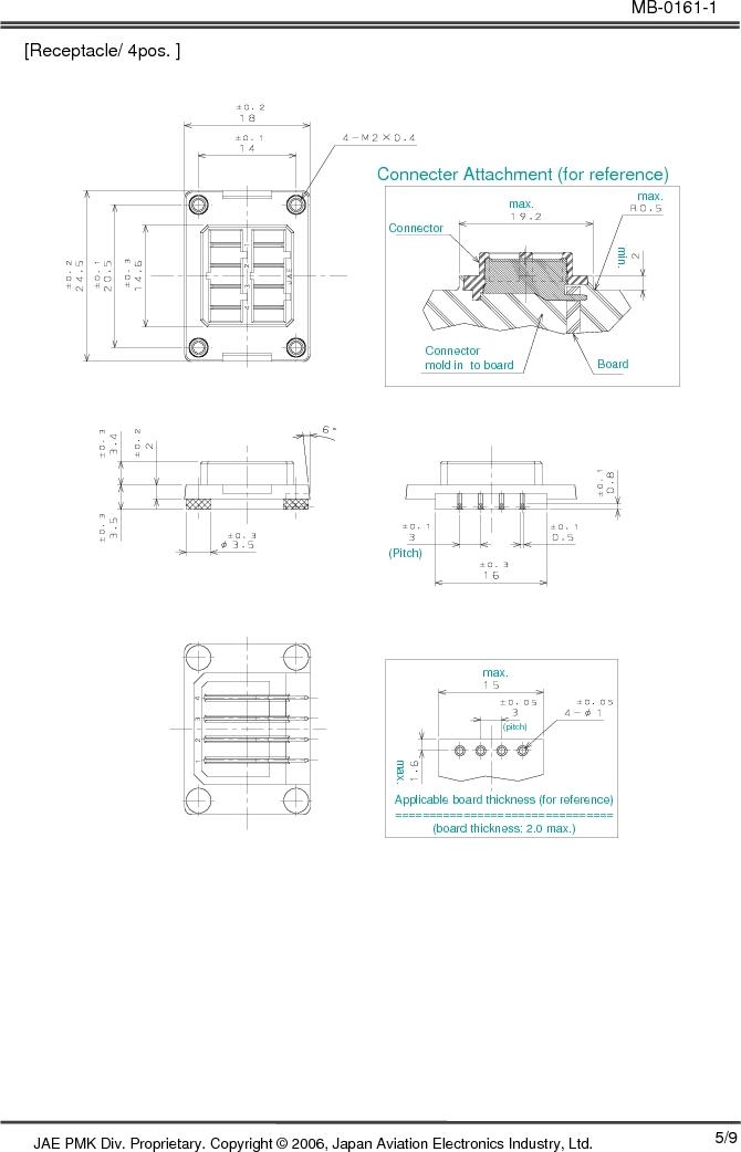 JN6CR07PM1 ,JAE Electronics厂商,CONN RCPT 7PS 28-22AWG CRIMP PIN, JN6CR07PM1 datasheet预览  第5页