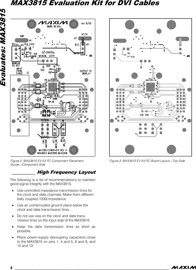 MAX3815EVKIT-DVI ,Maxim Integrated厂商,Video ICs MAX3815 Evaluation Kit for DVI Cables, MAX3815EVKIT-DVI datasheet预览  第4页