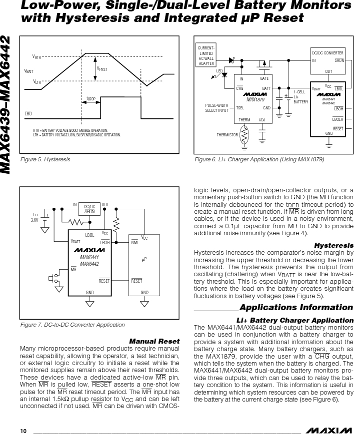 MAX6442KAKSTD3+T ,Maxim Integrated厂商,Battery Management Single Battery Monitor, MAX6442KAKSTD3+T datasheet预览  第10页
