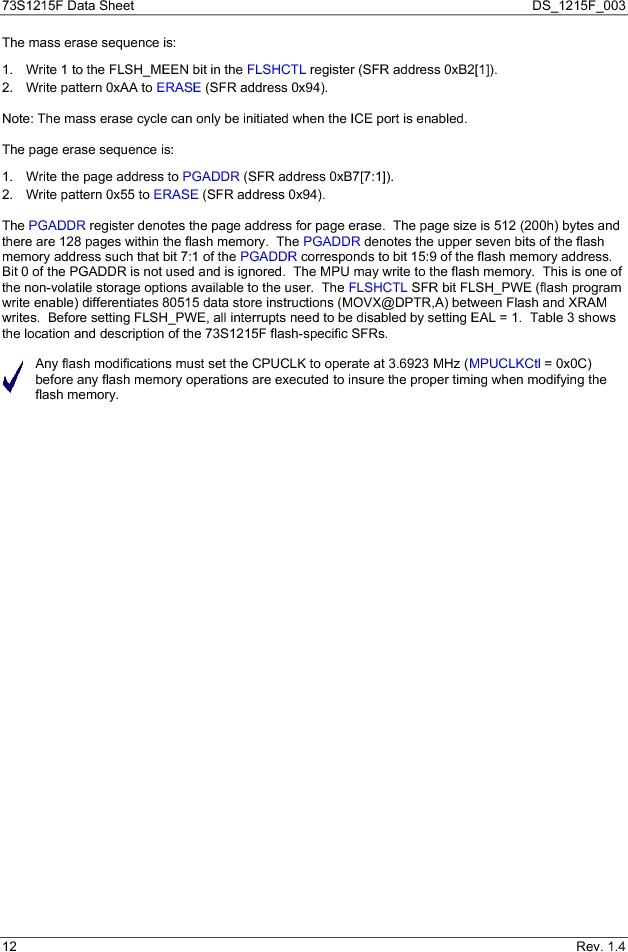 73S1215F-44IM/F/P ,Maxim Integrated厂商,IC SMART CARD READER PROG 44-QFN, 73S1215F-44IM/F/P datasheet预览  第12页