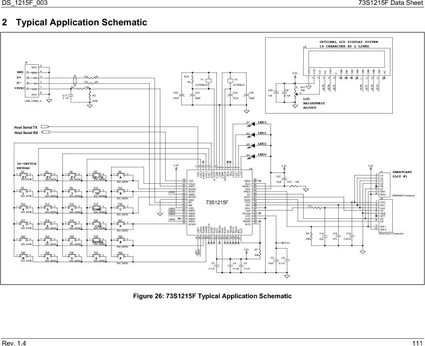 73S1215F-44IM/F/P ,Maxim Integrated厂商,IC SMART CARD READER PROG 44-QFN, 73S1215F-44IM/F/P datasheet预览  第111页