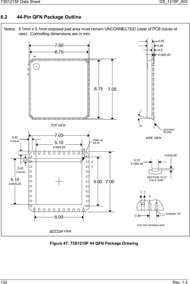 73S1215F-44IM/F/P ,Maxim Integrated厂商,IC SMART CARD READER PROG 44-QFN, 73S1215F-44IM/F/P datasheet预览  第132页