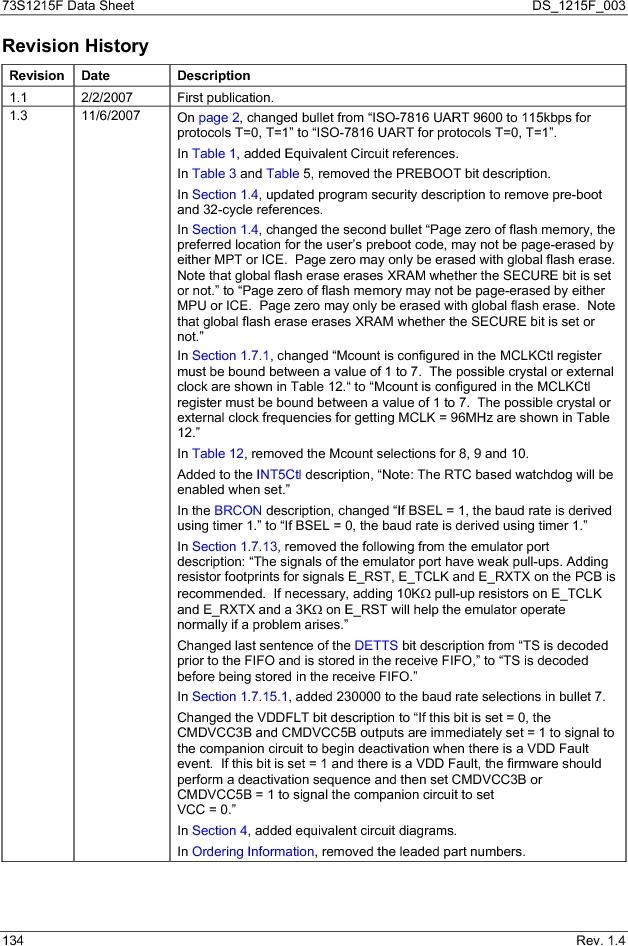 73S1215F-44IM/F/P ,Maxim Integrated厂商,IC SMART CARD READER PROG 44-QFN, 73S1215F-44IM/F/P datasheet预览  第134页