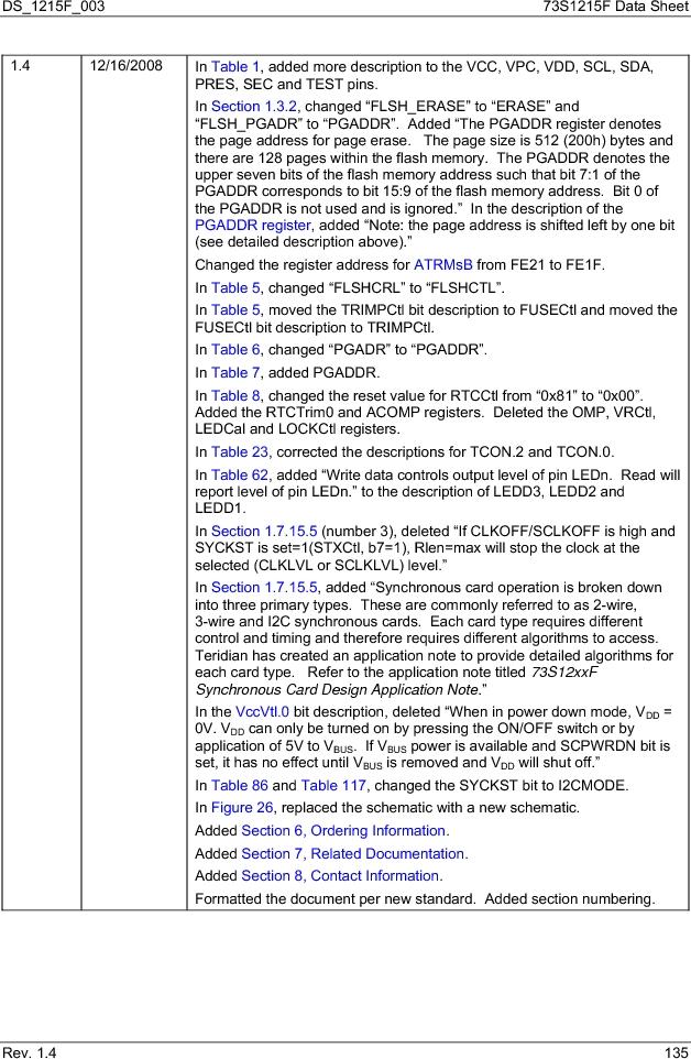 73S1215F-44IM/F/P ,Maxim Integrated厂商,IC SMART CARD READER PROG 44-QFN, 73S1215F-44IM/F/P datasheet预览  第135页