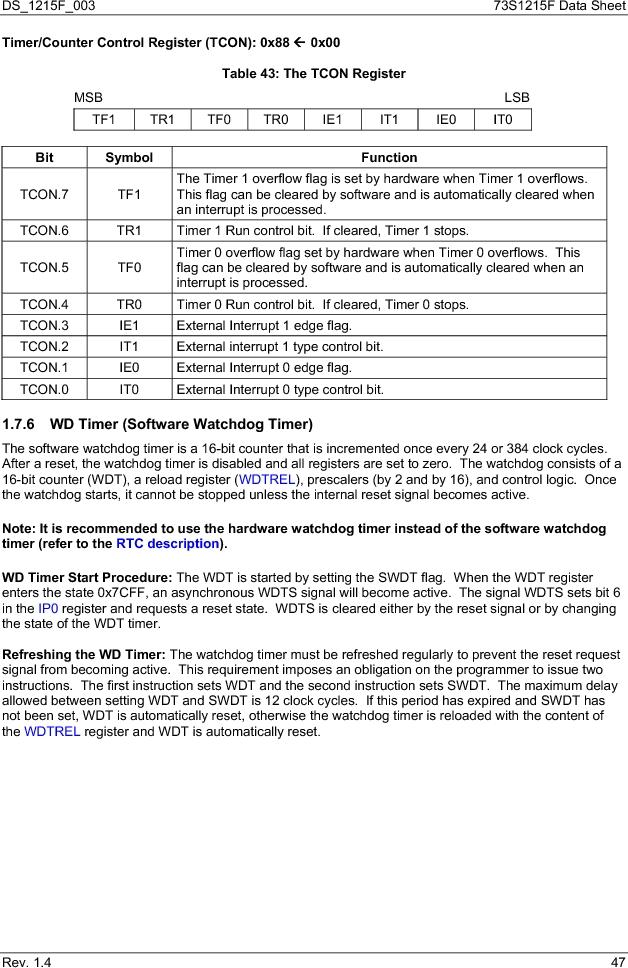 73S1215F-44IM/F/P ,Maxim Integrated厂商,IC SMART CARD READER PROG 44-QFN, 73S1215F-44IM/F/P datasheet预览  第47页