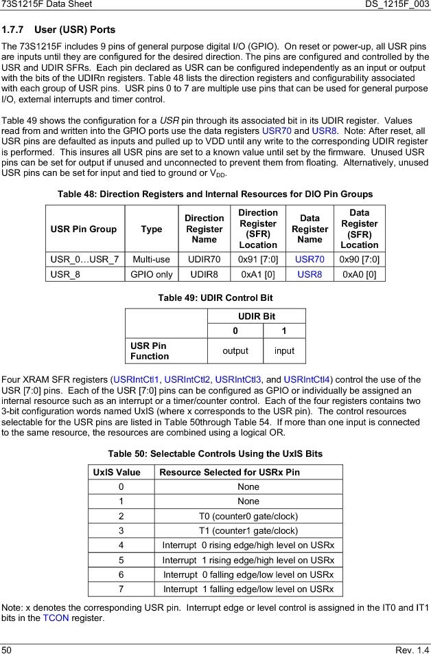 73S1215F-44IM/F/P ,Maxim Integrated厂商,IC SMART CARD READER PROG 44-QFN, 73S1215F-44IM/F/P datasheet预览  第50页