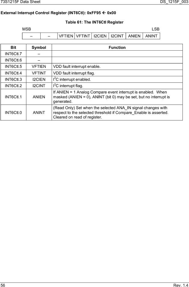 73S1215F-44IM/F/P ,Maxim Integrated厂商,IC SMART CARD READER PROG 44-QFN, 73S1215F-44IM/F/P datasheet预览  第56页