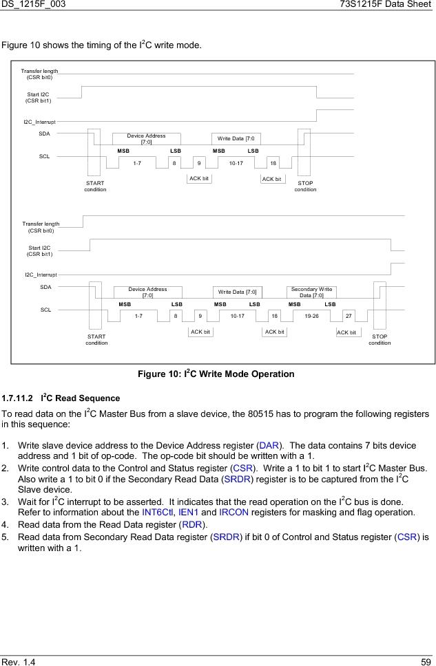 73S1215F-44IM/F/P ,Maxim Integrated厂商,IC SMART CARD READER PROG 44-QFN, 73S1215F-44IM/F/P datasheet预览  第59页