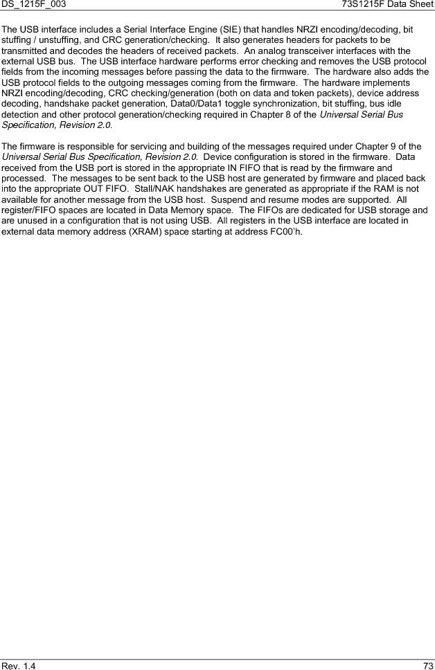 73S1215F-44IM/F/P ,Maxim Integrated厂商,IC SMART CARD READER PROG 44-QFN, 73S1215F-44IM/F/P datasheet预览  第73页