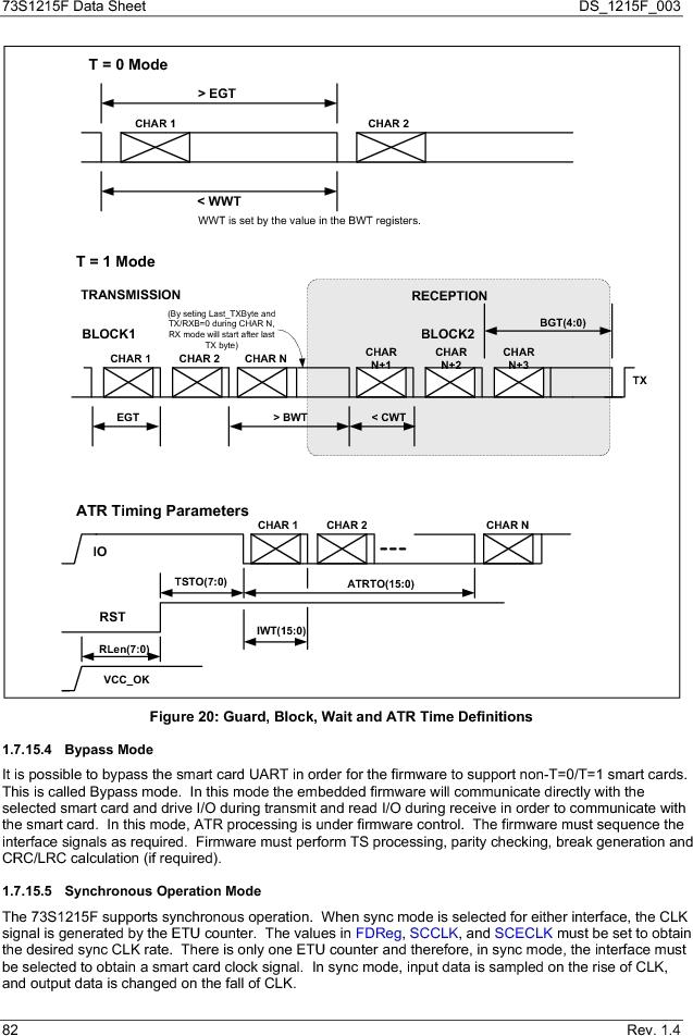 73S1215F-44IM/F/P ,Maxim Integrated厂商,IC SMART CARD READER PROG 44-QFN, 73S1215F-44IM/F/P datasheet预览  第82页