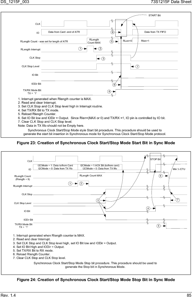 73S1215F-44IM/F/P ,Maxim Integrated厂商,IC SMART CARD READER PROG 44-QFN, 73S1215F-44IM/F/P datasheet预览  第85页
