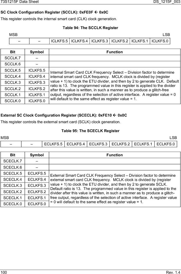 73S1215F-44IM/F/P ,Maxim Integrated厂商,IC SMART CARD READER PROG 44-QFN, 73S1215F-44IM/F/P datasheet预览  第100页