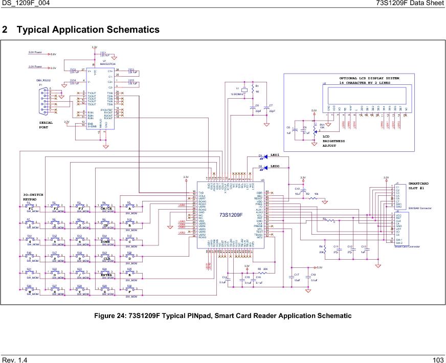 73S1209F-68IM/F/P ,Maxim Integrated厂商,IC SMART CARD READER PROG 68-QFN, 73S1209F-68IM/F/P datasheet预览  第103页