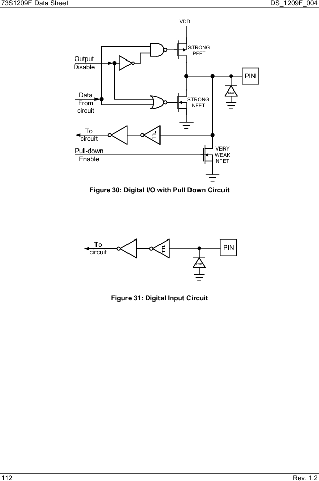 73S1209F-68IM/F/P ,Maxim Integrated厂商,IC SMART CARD READER PROG 68-QFN, 73S1209F-68IM/F/P datasheet预览  第112页
