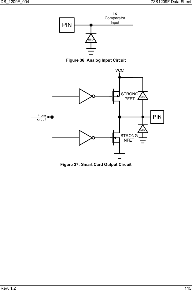 73S1209F-68IM/F/P ,Maxim Integrated厂商,IC SMART CARD READER PROG 68-QFN, 73S1209F-68IM/F/P datasheet预览  第115页