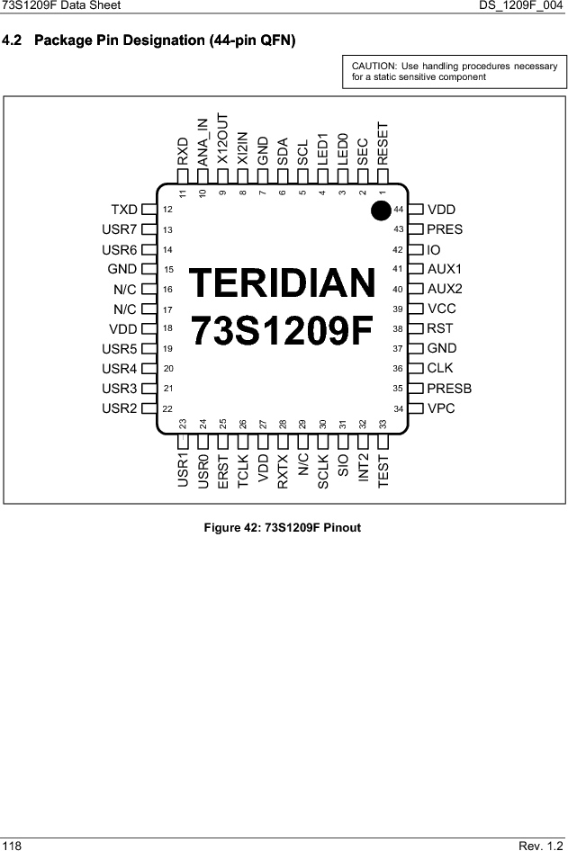 73S1209F-68IM/F/P ,Maxim Integrated厂商,IC SMART CARD READER PROG 68-QFN, 73S1209F-68IM/F/P datasheet预览  第118页