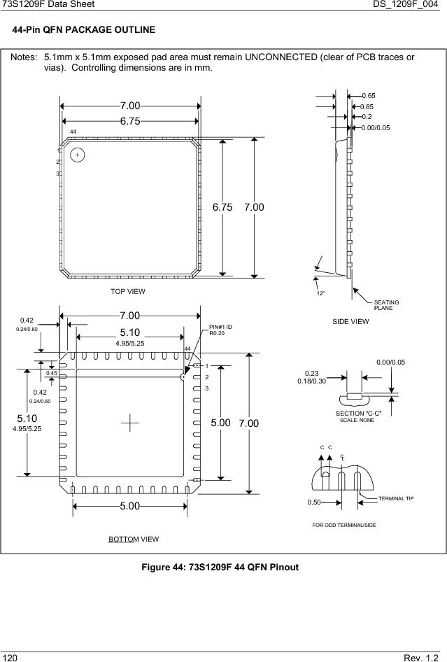 73S1209F-68IM/F/P ,Maxim Integrated厂商,IC SMART CARD READER PROG 68-QFN, 73S1209F-68IM/F/P datasheet预览  第120页
