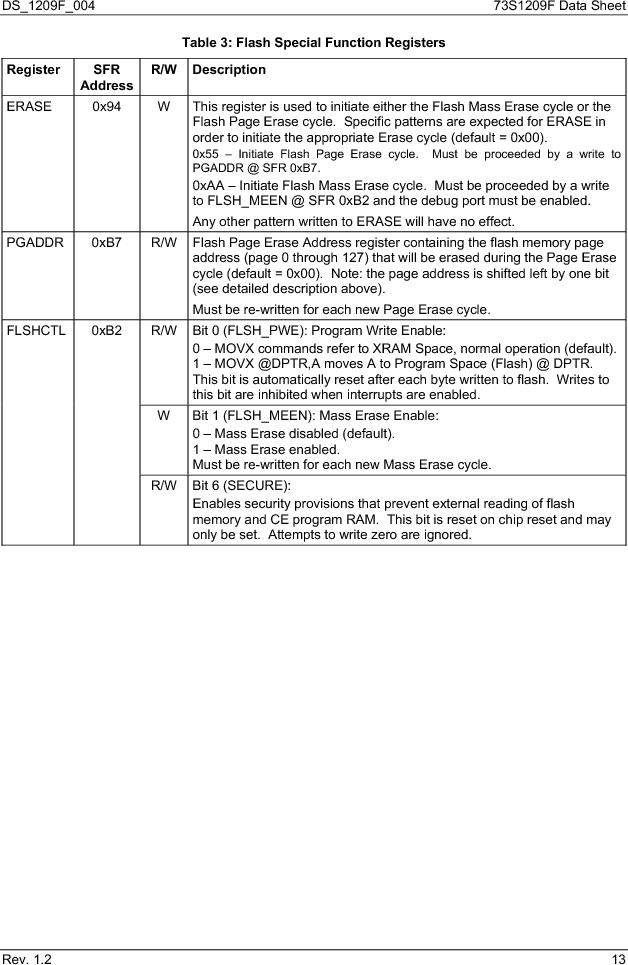 73S1209F-68IM/F/P ,Maxim Integrated厂商,IC SMART CARD READER PROG 68-QFN, 73S1209F-68IM/F/P datasheet预览  第13页