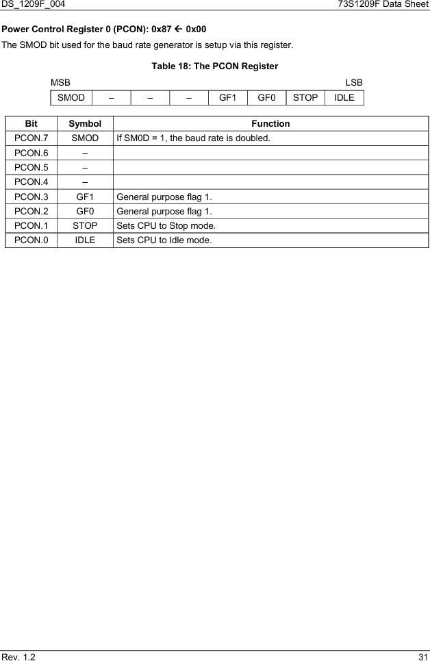 73S1209F-68IM/F/P ,Maxim Integrated厂商,IC SMART CARD READER PROG 68-QFN, 73S1209F-68IM/F/P datasheet预览  第31页