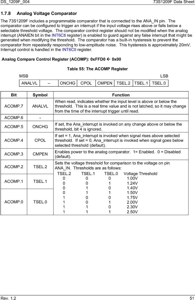 73S1209F-68IM/F/P ,Maxim Integrated厂商,IC SMART CARD READER PROG 68-QFN, 73S1209F-68IM/F/P datasheet预览  第51页