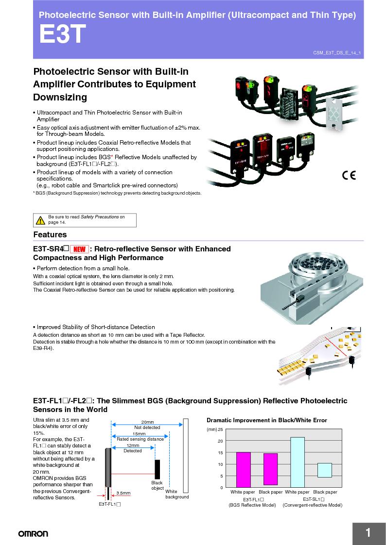 E3T-ST22 2M ,Omron厂商,PHOTOELECTRIC, E3T-ST22 2M datasheet预览  第1页