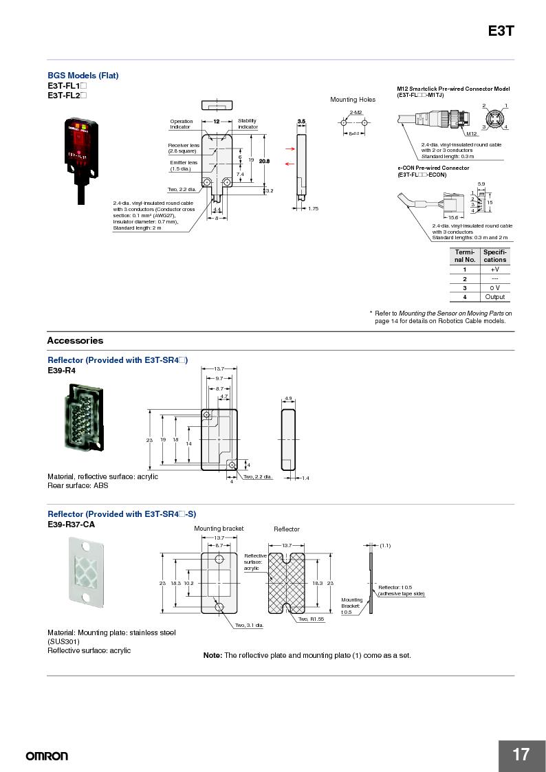 E3T-ST22 2M ,Omron厂商,PHOTOELECTRIC, E3T-ST22 2M datasheet预览  第17页