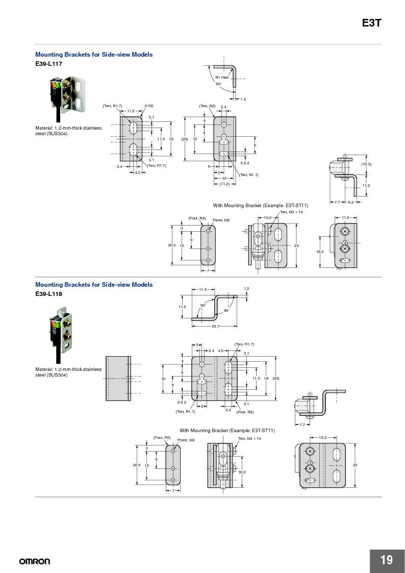 E3T-ST22 2M ,Omron厂商,PHOTOELECTRIC, E3T-ST22 2M datasheet预览  第19页