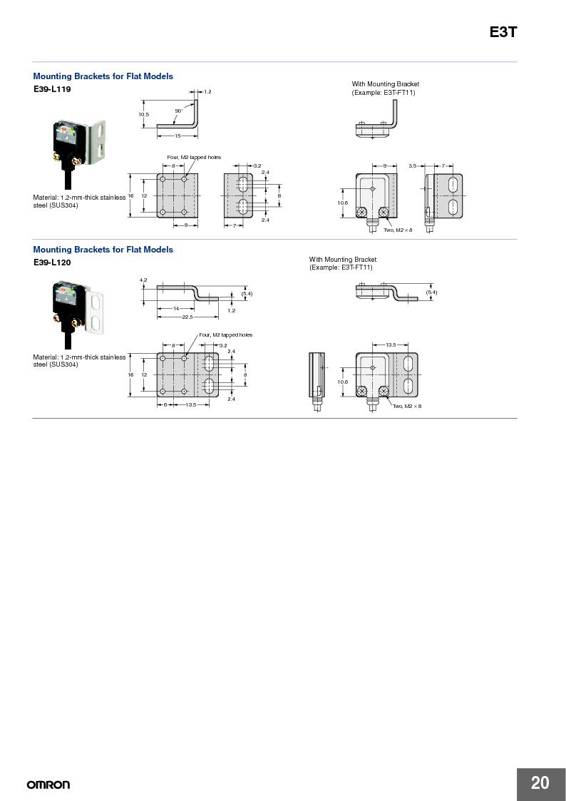 E3T-ST22 2M ,Omron厂商,PHOTOELECTRIC, E3T-ST22 2M datasheet预览  第20页