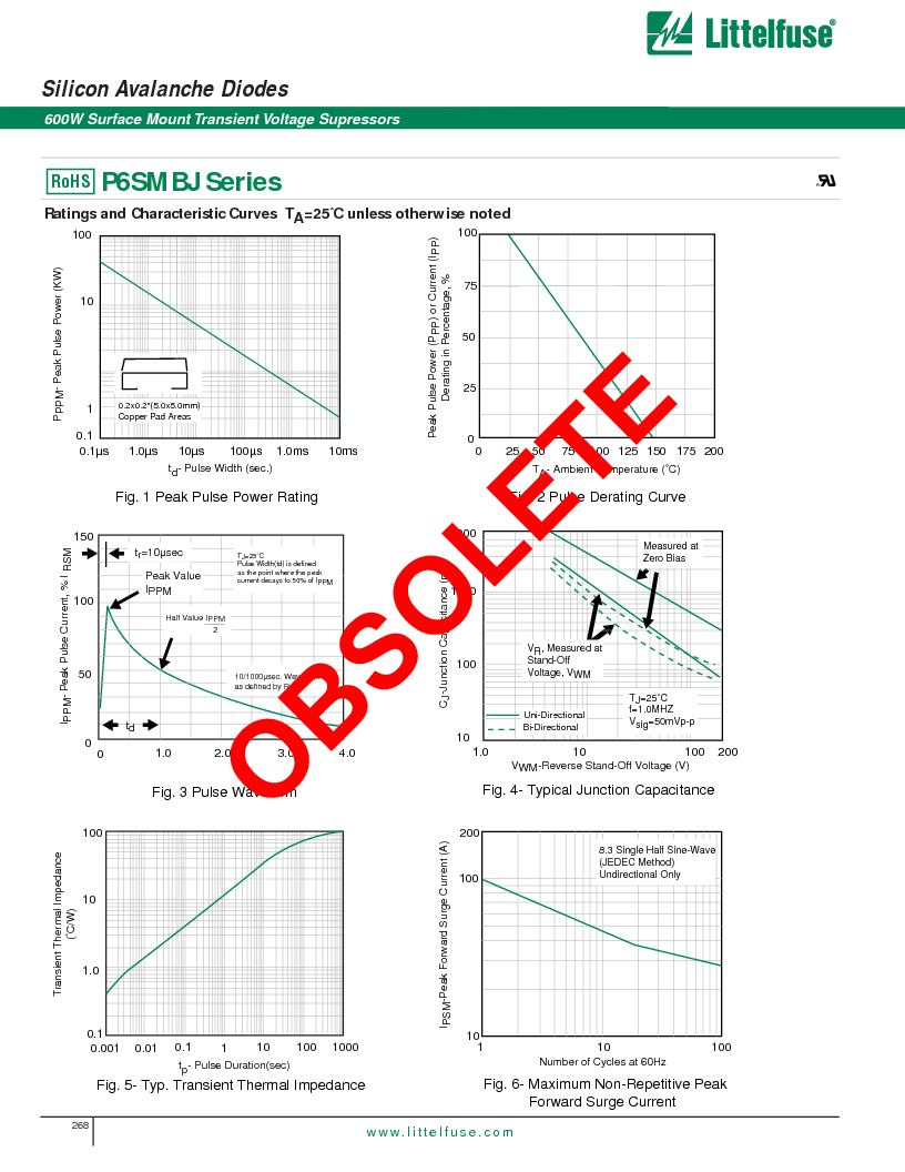 P6SMBJ6.8CA ,Littelfuse Inc厂商,DIODE TVS 6.8V 600W BIDIR 5% SMB, P6SMBJ6.8CA datasheet预览  第3页